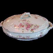 SALE Vintage Tureen Roses Pink Soup