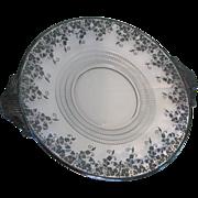 Duncan & Miller # 111 Terrace Handled Platter Silver Overlay