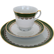 Tea Trio Seltmann Bavaria Green China Set