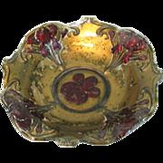 Vintage Goofus Irises Bowl