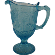 Vallerysthal Portieux Shell and Web Creamer Milk Jug Blue