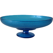 Vintage Blue Northwood Stretch Compote #653 Celeste Blue