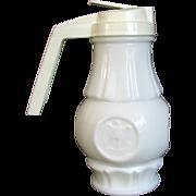 Syrup Wheaton Patriotic Milk Glass Eagle