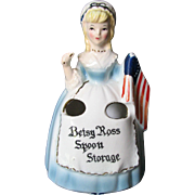 SOLD Enesco Betsy Ross Figurine Flag Spoon Holder Patriotic