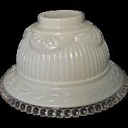 Vintage Shade Lamp Boudoir Laurel Leaves