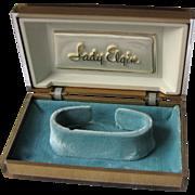 Vintage Lady Elgin Watch Box Lucite