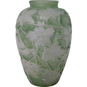 1920s Consolidated Glass Dogwood Vase