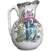 Antique Victorian Pitcher Aesthetic Iris