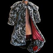 """SALE Fabulous Faux Fur COAT & BONNET for Antique 24""""-26"""" French Bebe or German D"""