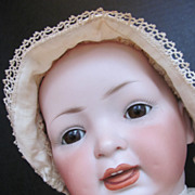 SOLD Thank you 'T'_Adorable Solid Dome German Character Baby Doll_151 Hertel & Schwab_Chunky B