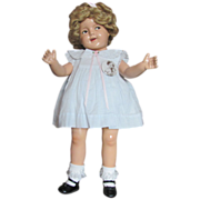 """SOLD Thank you 'L'_Lovely Flirty Eyes Shirley Temple 25"""" Doll_w/perfect Composition Body_"""