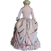 """SOLD Thank you 'L'_Cafe Au Lait Flattop Blonde German China Head Doll 22""""_Beautifully Cus"""