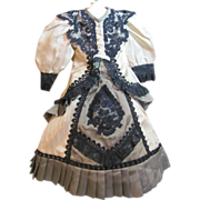 """SOLD French Fashion style 2 pc dress for 16"""" doll"""