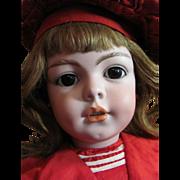 "SOLD Thank you 'P'_26"" Simon & Halbig #1279 German Character Child Doll_Deep Dimples_Plum"