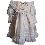 """SALE Ribbon Embroidery and detailing Silky Ecru dress_fits 20"""" doll"""