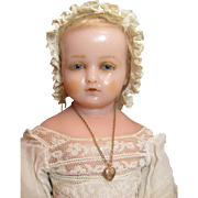 SOLD Pierrotti Baby Face_English Poured Wax doll_Circa1871