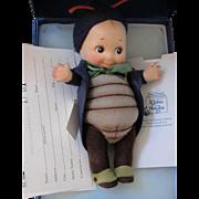 "SALE ""Peeper"" Kewpie Bug _ R. John Wright_Felt fully jointed doll_Date of Release 20"