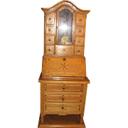 Salesman's Sample Secretary Bookcase Great for Antique Doll Accessory_Munich, Germany, 19th ..