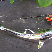 SOLD Beach House Perfect  Chrome Plated Dolphin Bottle Opener