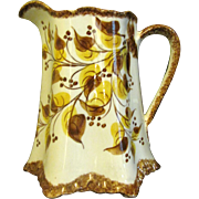 SALE Large Clinchfield Artware Erwin TN Hand Painted Pottery Pitcher