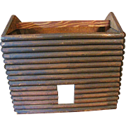 SALE Circa 1930's Primitive Log Cabin Doll House in the form of a Basket