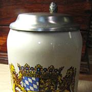 Nice Vintage Bayern Bavaria German Beer Stein