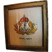 SALE WW1 Royal Navy Embroidered Insginia