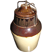 SALE 1900's, Antique Stoneware Jam/Fruit Jar 1899 - 1905
