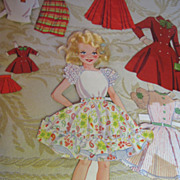 """SALE 1950's Miss Candy Stand Up Doll with Own Doll & """"Real Hair"""""""