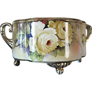 SALE 1918 Hand Painted Noritake Morimura Gilt Floral Bowl