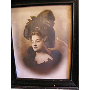 SALE Wonderful Framed Victorian Photograph of Beautiful Lady