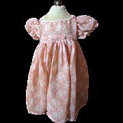 SALE Pretty Batiste Mid Century Factory Dress for Medium Doll