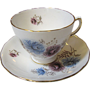 Pretty Mid Century Royal Vale Bone China Cup and Saucer