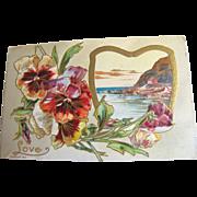 "SALE 1910, ""Love"" Embossed Post Card copyright 1910, series 108 K, This card is blan"