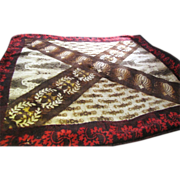 SALE Stunning Victorian Chase Buggy Blanket, Great Abstract Design!