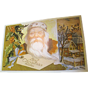 """SALE """"Best Christmas Wishes"""" Santa Christmas Post Card"""