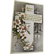 "1911, ""A Joyful Easter"" Tuck's Post Card Easter series no. E. 3636 Made in ..."