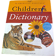 """SALE """"The American Heritage Children's Dictionary"""" (for children in grades 3-6)"""