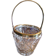 SALE Lovely Smaller Scale High Quality Crystal and Silver Plated Ice Bucket