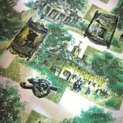 SALE Beautiful Retro Slub Weave Fabric, 3 yds +, Historic Themes, Great Colors!