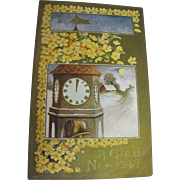"SALE ""A Glad New Year"" Postcard Early 20th Century‏"