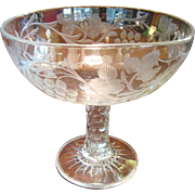 "Splendid Huge 10"" Blown and Cut Lead Crystal Centerpiece Bowl"