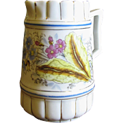 Beautiful Victorian Aesthetic Hand Painted Transferware Pitcher