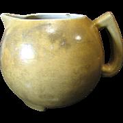 Rare circa 1890 to 1910 Stoneware Alkaline Glazed Lemonade Pitcher