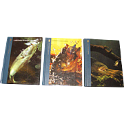 """SALE Three Book Set """"The Huntiing and Fishing Library"""""""