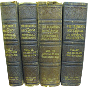 SALE 1898 Rare First Edition 4 Vol. Set,The Elements of Mechanical Engineering