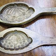 SOLD Super Pair of Hand Carved Hardwood Antique Molds