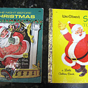 SALE Santa's Toy Shop and The Night Before Christmas, Little Golden Books