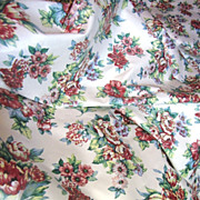 7 1/2yds, Mid Weight 13 Color Glazed Cotton Print, Quality, Beautiful!
