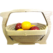 SALE Wonderful Folding Hardwood Basket by Crosbie Crafts